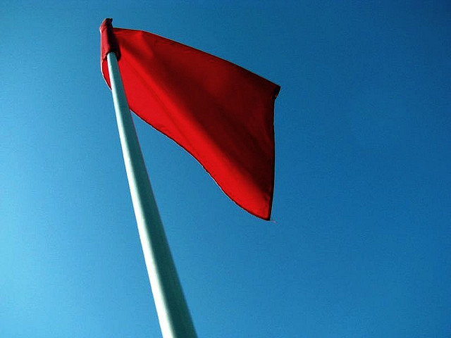 Photo Of A Red Flag